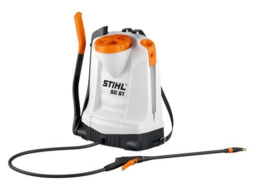 Atomizador manual de mochila con manómetro.